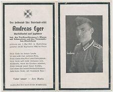 Sterbebild  Oberfeldwebel Heldentod im Osten/Orden   2.WK ( H302)