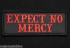 EXPECT NO MERCY USA ARMY BLACK OPS RED VELCRO® BRAND FASTENER MORALE PATCH