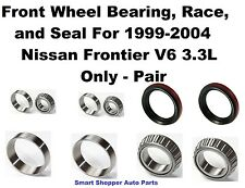 Front Wheel Bearing, Race, Seal for 1999-2004 Nissan Frontier V6 3.3L 4WD -Pair