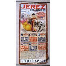 Affiche JEREZ Feria del Caballo PADILLA PONCE Jose TOMAS MORANTE AGUILAR et OJED