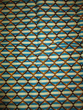 NEW AFRICAN COTTON PRINT FABRIC.**CRAFT & CLOTHING** PRICE PER YARD*