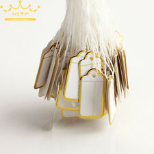 100pcs White Strung Retail Price Labels Tie On Tags Gift Jewellery 25x 15MM