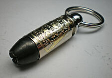 40 Caliber Black Talon Bullet Engraved Personalized Officers Keychain Keepsake