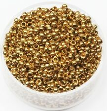 2.5 MM Solid Brass Round Seamless Hollow Beads Hole 1.2 MM Pkg.100  Natural, USA