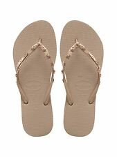 Havaianas Slim Hardware Rose Gold  Flip Flops - UK 3-4
