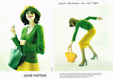 PUBLICITE ADVERTISING 084  1997  LOUIS VUITTON   LE CUIR EPI  ( 2 pages) sacs