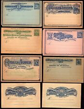 NICARAGUA 1890's COLLECTION OF 12 POSTAL CARDS & COVERS ALL DIFF. DESIGNS