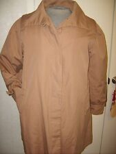 Women's RAIN SHEDDER Beige Jacket with Zip Out Lining - Size 15/16 - Exc. cond!