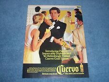1986 Cuervo Gold Tequila Vintage Ad with Pierce Brosnan