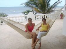 """Sale-Beautiful large handmade Mexican """"double knit"""" cotton hammock"""