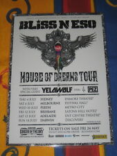 Bliss N Eso - House Of Dreams Aus Tour 2013 - Laminated Promo Poster