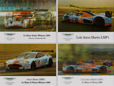 Gulf Aston Martin Racing Set of 4 - DBR9 & Lola LMP1 007 - 2 Way Pictures 3d
