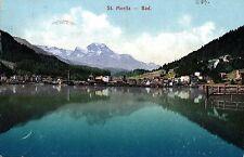St. Moritz - Bad, 1907 von St. Moritz nach Suttgart versandt