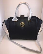 NWT Lauren Ralph Lauren Charleston Small Shopper Bag Black MSRP$248