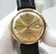 "TIMEX,Automatic,Full-sized ,""Classic Date Dial"" Leather MEN'S WATCH,991,L@@K!"