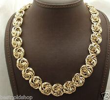 "20"" Bold Love Knot Rosetta Chain Necklace  Real 14K Yellow Gold 34.5gr QVC"
