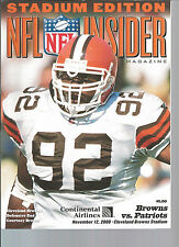 Cleveland Browns vs. New England Patriots program 11/12/00 Courtney Brown