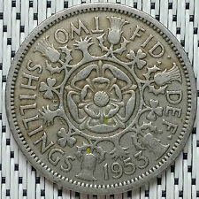 GREAT BRITAIN - 1953 - 2 Shillings Elizabeth II #CALU