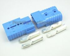 2 CONNECTORS+CONTACTS #4AWG, ANDERSON, SB175A-600V, BIG BLUE, FORKLIFTS,CHARGERS