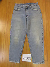 Used feathered destroyed levi's 560 grunge jean tag 34x30 meas 32x29 17049F
