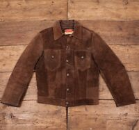 "Mens Levis Vintage 1960's True Vintage Brown Suede Leather Jacket S 36"" R2848"
