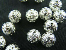 Wholesale Silver/Copper/Gold Plated Hollow Spacer Beads 4/6/8mm