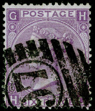 Sg108, 6d dull violet plate 8, good used. Cat £90. HG
