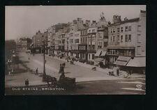 Sussex BRIGHTON Old Steine street scene 1914 RP PPC pub E A Schwerdtfeger