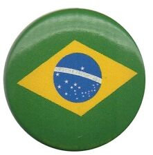 Brazil Flag1 inch Button Pin Badge