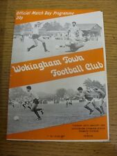 24/01/1984 Wokingham Town v Hendon  (slight marked). Item appears to be in good