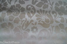 ROUND wipeable oilcloth XMAS silver damask wipe clean vinyl TABLECLOTH CO