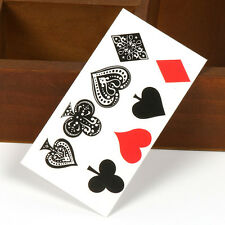 1 Sheet Unisex Design Fake Transfer Tatoos Temporary Tattoos Playing Card Tattoo