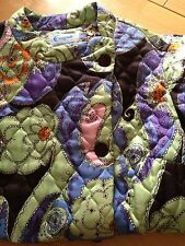 Vintage Womens Quilted Robe Housecoat Conrad Size L - XL Vintage Kitschy