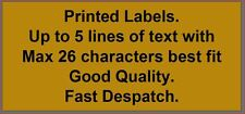 GOLD Personalised Address labels x 200 - or any other text