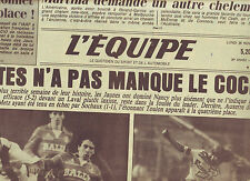 journal  l'équipe du 26/11/84 FOOTBALL NANTES NANCY PSG MONACO RUGBY TOULON NICE