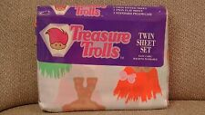 Vintage Treasure Trolls Twin Sheet Set ~ 1992 Ace Novelty ~ New in Package!