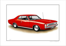 VALIANT  VH HARDTOP COUPE  318 V8  REGAL     LIMITED EDITION CAR PRINT  DRAWING