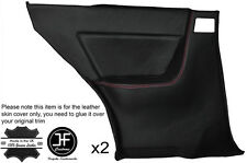 RED STITCH 2X REAR FULL DOOR CARD LEATHER COVERS FITS SKYLINE R32 GTS GTR 89-94