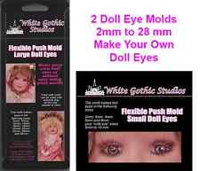 Two Doll Eye Molds - Make your own doll eyes - 2mm to 28mm + Course