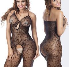 Babydoll Sexy Lingerie Underwear Crotchless BODYSTOCKING Bodysuits  spider web
