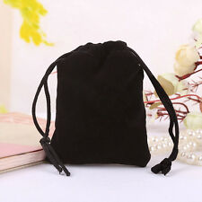 Black Velvet Drawstring Jewelry Gift Bags Pouches Wedding Hot Sale 2017!