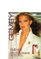 PUBLICITE  1979   GEMEY   cosmétiques  fond de teint