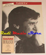spartito GIANNI MORANDI Varieta' 1989 BMG italy cd lp mc dvd vhs