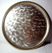 WMF-IKORA Antique Vintage Large Round Silver Plated Footed Tray w/ Gold Edges