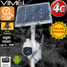 Farm Security Camera 4G Solar Home  House PTZ 18XOptical Zoom GSM Live View 3G