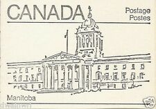Canada 1982 - 50¢ Maple Leaf Booklets #BK82A (labels top row) - Manitoba