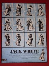 JACK WHITE EUROPEAN TOUR POSTER ROB JONES PRINT LONDON PARIS BERLIN MEG STRIPES