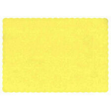 """25 Paper Placemats 10"""" X 14"""" Dinner Size 26 Colors - Harvest Yellow"""