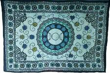 """Floral Triple Moon Tapestry Blanket 72 x 108"""" Wiccan Pagan Altar Supply WTFTM"""