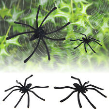 HOT30X Party Festival Plastic Black Spider Joking Toy Decoration Realistic Prop